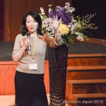 COSMO President and CEO, Kumi Sato speaks at the Women in Japan Conference